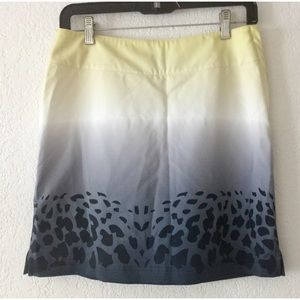 Lija Multicolored Leopard-Print Athletic Skirt